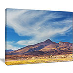 Designart Bright Argentina Mountain Region AfricanLandscape Canvas Art Print