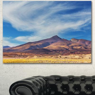 Designart Bright Argentina Mountain Region AfricanLandscape Canvas Art Print - 3 Panels