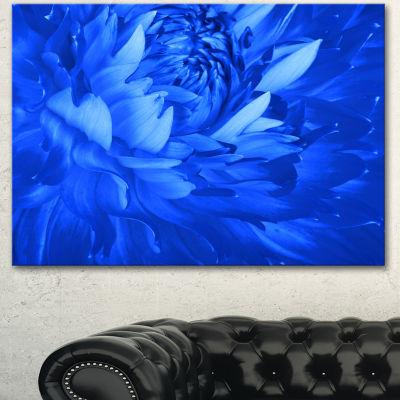 Designart Bright Blue Flower Petals Floral CanvasArt Print