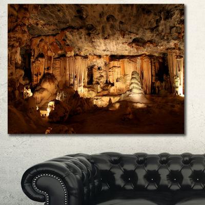 Designart Bright Cango Caves South Africa AfricanLandscape Canvas Art Print - 3 Panels