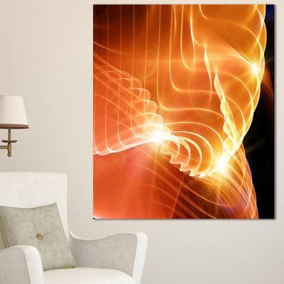 Designart Bright Yellow 3D Abstract Design Contemporary Abstract Wall Art - 3 Panels