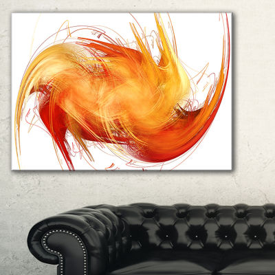 Designart Brown Abstract Fractal Pattern AbstractArt On Canvas