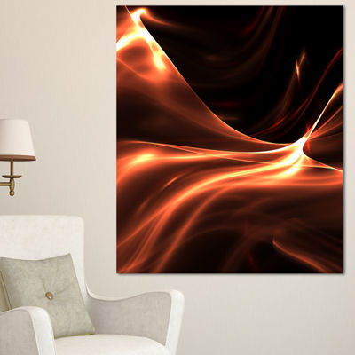 Designart Brown Abstract Warm Fractal Design Abstract Wall Art Canvas - 3 Panels