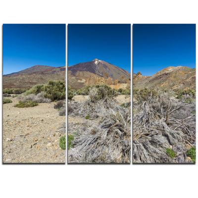 Designart Caldera Of The Volcano Teide Contemporary Landscape Triptych Canvas Art