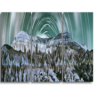 Designart Cappadocia Valley Panoramic View Landscape Print Wall Artwork