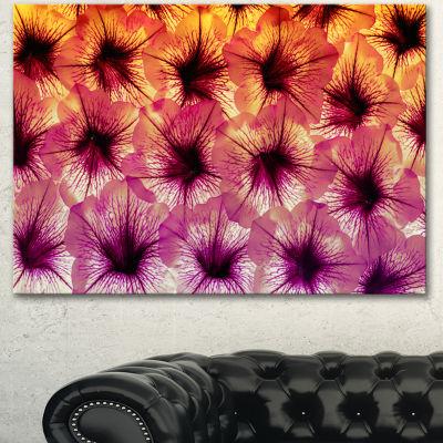 Designart Close Up Purple Flower Design Floral Canvas Art Print - 3 Panels
