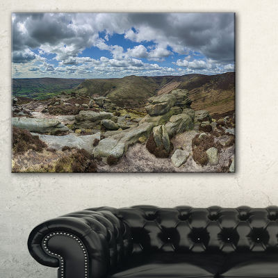 Designart Clouds And Stones Under Wild Clouds Landscape Artwork Canvas