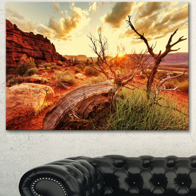 Designart Colorful Fall American Prairie OversizedLandscape Canvas Art