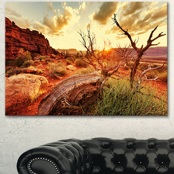Designart Colorful Fall American Prairie OversizedLandscape Canvas Art - 3 Panels