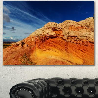 Designart Coyote Buttes Of Vermillion Cliffs Oversized Landscape Canvas Art - 3 Panels