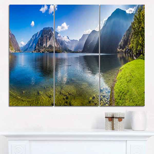 Designart Crystal Clear Waters Of Alps Lake Landscape Print Wall Artwork
