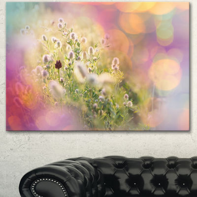 Designart Cute Little Summer Flowers Large FlowerCanvas Wall Art - 3 Panels