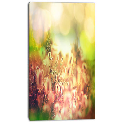 Designart Cute Summer Flowers On Meadow Floral Canvas Art Print