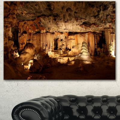 Designart Dark Cango Caves South Africa African Landscape Canvas Art Print - 3 Panels
