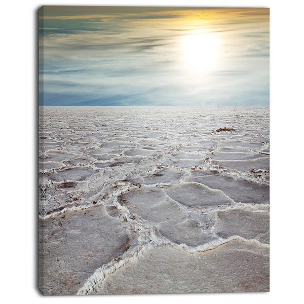 Designart Death Valley Under Sunlight Landscape Wall Art On Canvas