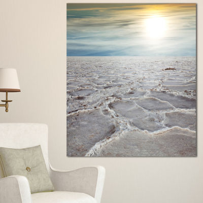 Designart Death Valley Under Sunlight Landscape Wall Art On Canvas - 3 Panels