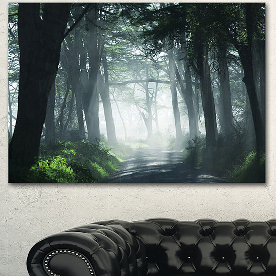 Designart Dense Rain Forest At Sunrise Extra LargeLandscape Canvas Art