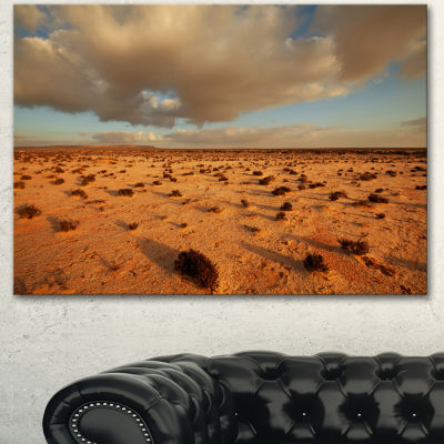 Designart Desert In Western Sahara Landscape Canvas Art Print - 3 Panels