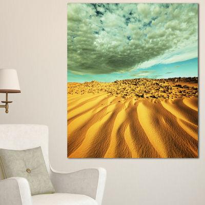 Designart Dramatic Sky Above Sand Desert LandscapeWall Art On Canvas - 3 Panels