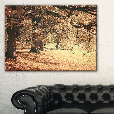 Designart Dreamy Imagery Of Autumn Forest Modern Forest Canvas Art