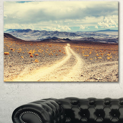 Designart Dry Grass And Mountains In Argentina Oversized Landscape Canvas Art