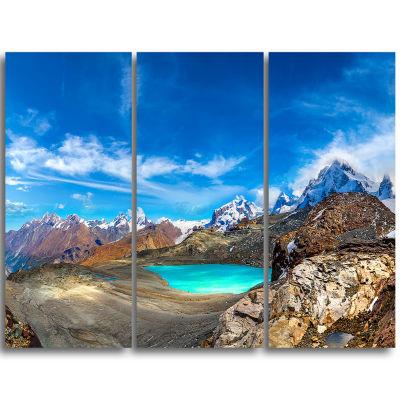Designart Enchanting Swiss Alps Mountains Landscape Triptych Canvas Art Print