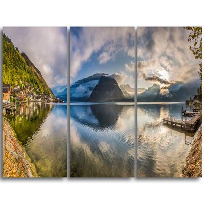 Designart Fabulous Mountain Lake In Alps LandscapePrint Wall Artwork