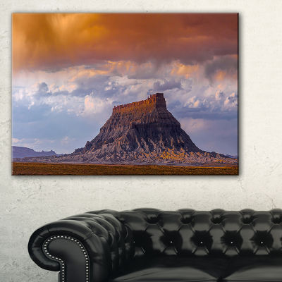 Designart Factory Buttle Utah Panorama Landscape Artwork Canvas