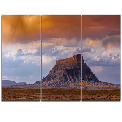 Design Art Factory Buttle Utah Panorama LandscapeArtwork Triptych Canvas