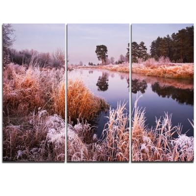 Designart Fairy Autumn Dawn Panorama Landscape Print Wall Artwork
