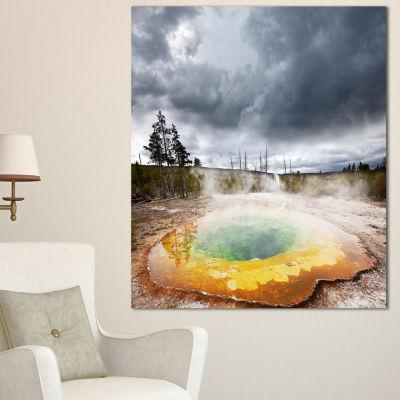 Designart Fantastic Morning Glory Pool Landscape Canvas Art Print