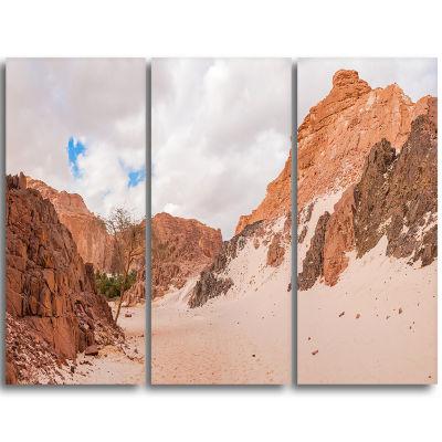 Designart Fantastic Panorama Of White Canyon ExtraLarge Wall Art Landscape
