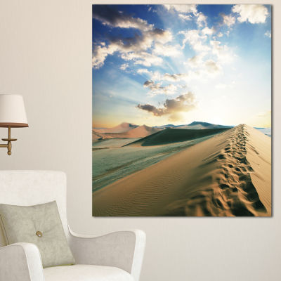 Designart Fantastic View Of Desert Dunes LandscapeWall Art On Canvas - 3 Panels