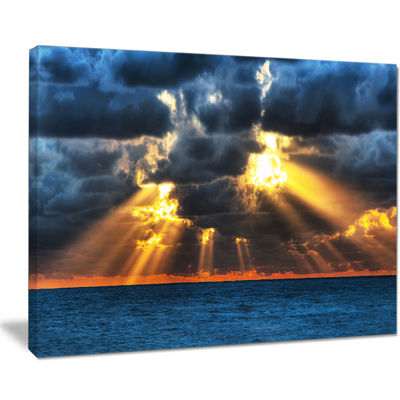 Designart Fight Between Dark And Light Landscape Artwork Canvas
