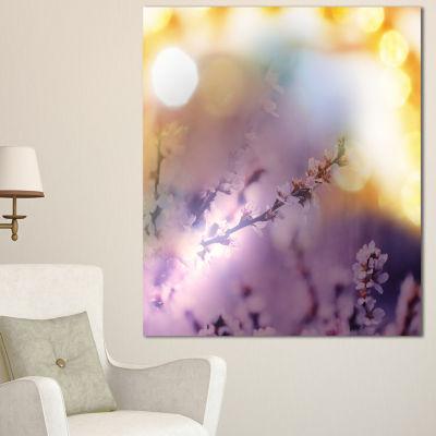 Designart Flowers Of Cherry In Spring Garden Floral Art Canvas Print - 3 Panels