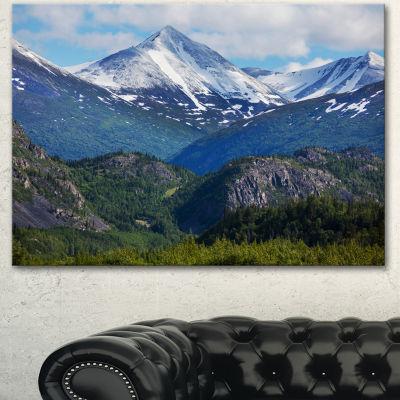 Designart Frosty Mountains On Alaska Landscape Canvas Art Print - 3 Panels