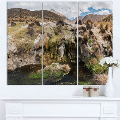 Designart Fumaroles Altipano Geothermal Area Landscape Print Wall Artwork