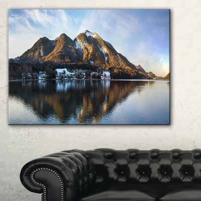 Designart Fuschlsee In The Salzkammergut Large Seascape Art Canvas Print