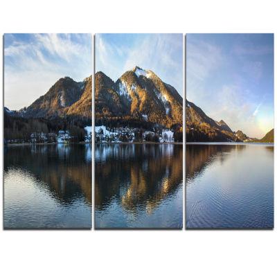 Designart Fuschlsee In The Salzkammergut Large Seascape Art Triptych Canvas Print