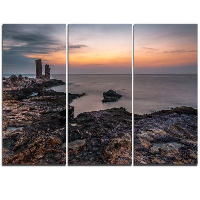 Designart Gate To Africa Seashore In Mahdia Oversized Beach Triptych Canvas Artwork