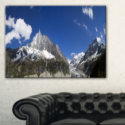 Designart Glacier Nearby Chamonix Panorama Landscape Artwork Canvas