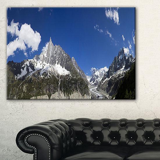 Designart Glacier Nearby Chamonix Panorama Landscape Artwork Canvas