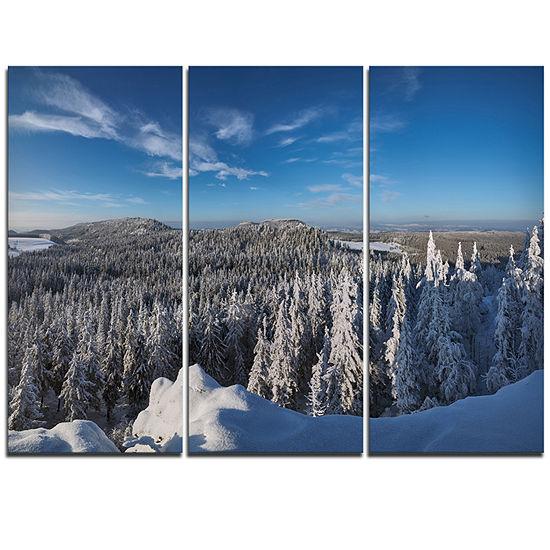 Designart Gory Stolowe From Szczeliniec MountainsOversized Landscape Wall Art Print