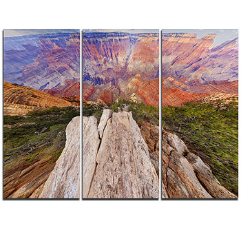 Designart Grand Canyon View From Above Modern Seascape Triptych Canvas Artwork Color Blue Jcpenney
