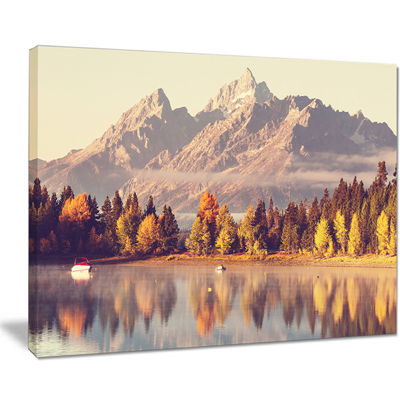 Designart Grand Teton National Park Oversized Landscape Canvas Art