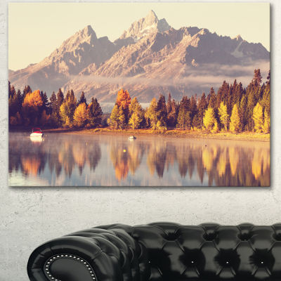 Designart Grand Teton National Park Oversized Landscape Canvas Art - 3 Panels