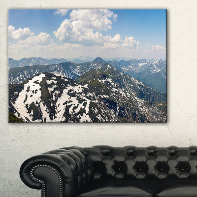 Designart Green Mountains In Spring Panorama Landscape Artwork Canvas