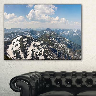Design Art Green Mountains In Spring Panorama Landscape Artwork Canvas