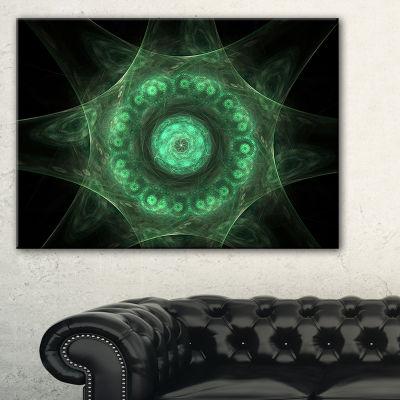 Designart Growing Radial Green Fractal Flower ArtFloral Canvas Art Print