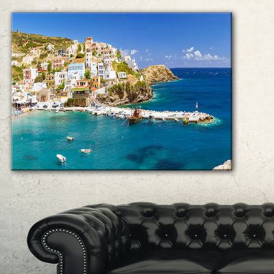 Designart Harbor With Vessels And Boats Large Seascape Art Canvas Print